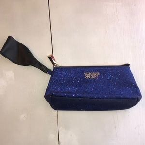 Purple glittery Victoria's Secret wristlet
